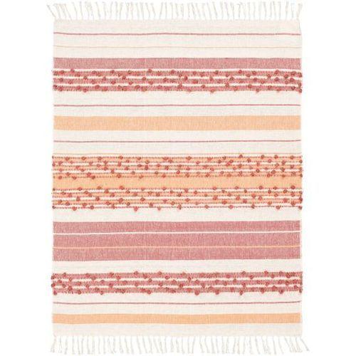 Serape Coral Woven Cotton Rug