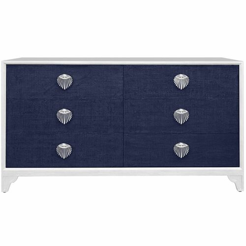 Shanghai 6 Drawer Dresser in Navy