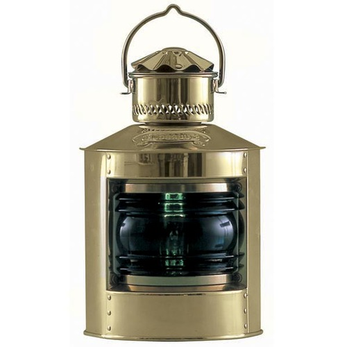 Nautical Brass Side Light, Green