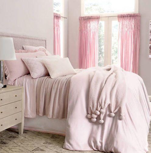 Silken Solid Sham Pink