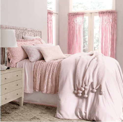 Silken Solid Slipper Pink Duvet Cover