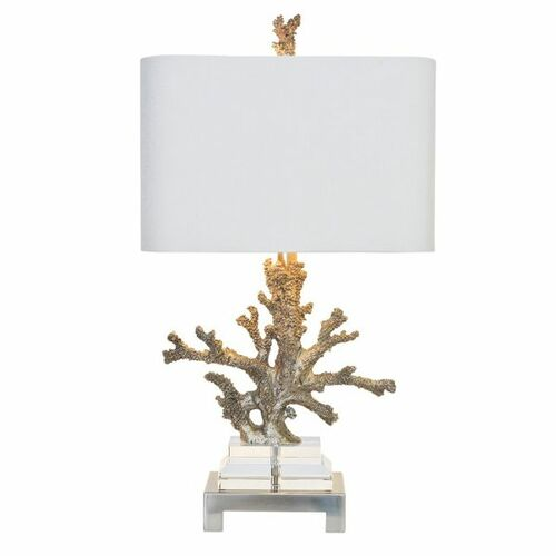 Silver Coral Table Lamp<font color=a8bb35> Sold out</font>