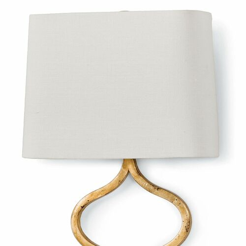 Sinuous Sconce - Gold Leaf finish