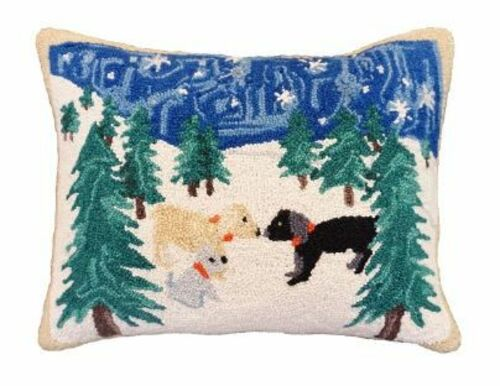 Snow Dogs Pillow