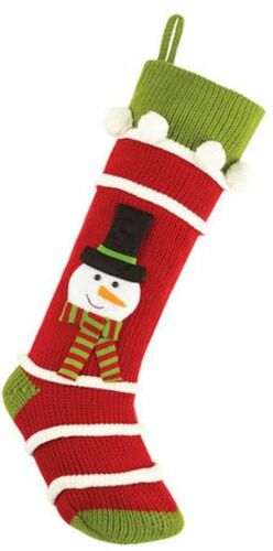 Snowman Knit Christmas Stocking<font color =a8bb35> Sold out</font>