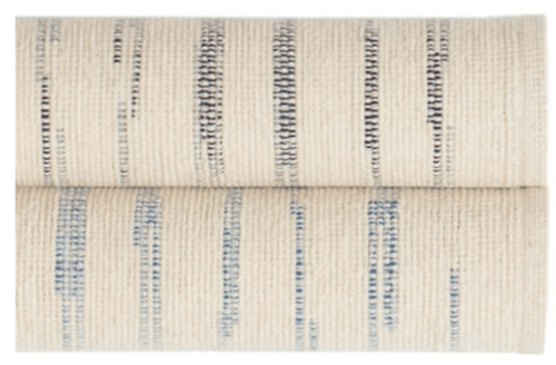 Solana Asiatic Blue Woven Cotton Rug