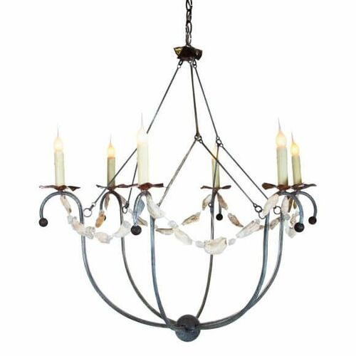 Spring Island Small Basket Chandelier