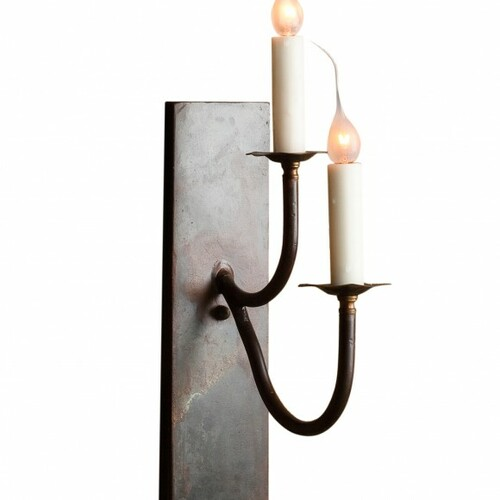 Rustic Stacked Double Sconce