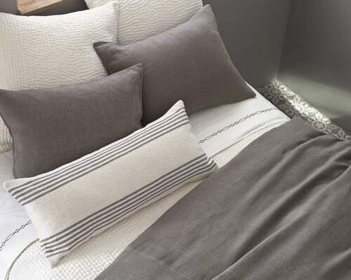Stone Washed Linen Shale Duvet Cover 20% OFF