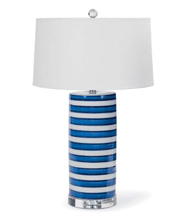 Striped Column Table Lamp
