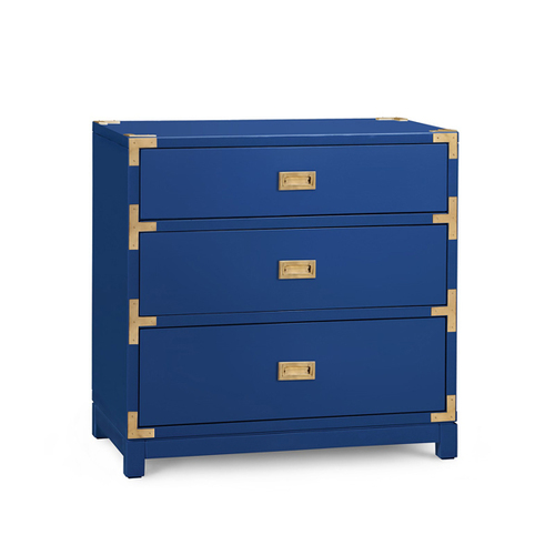 Victoria 3-Drawer Side Table - Blue