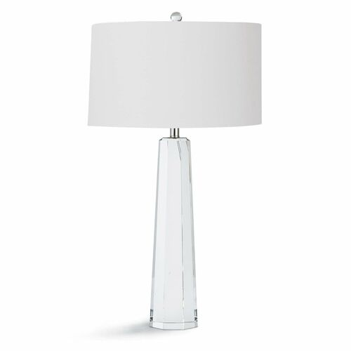 Tapered Hex Crystal Table Lamp