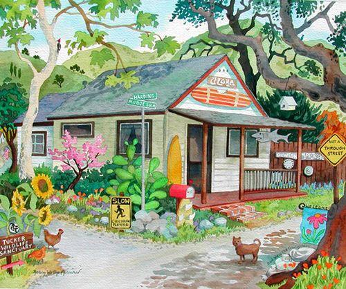 The Aloha House Beach Print
