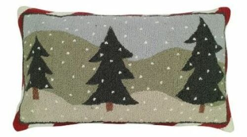Three Trees Christmas Pillow