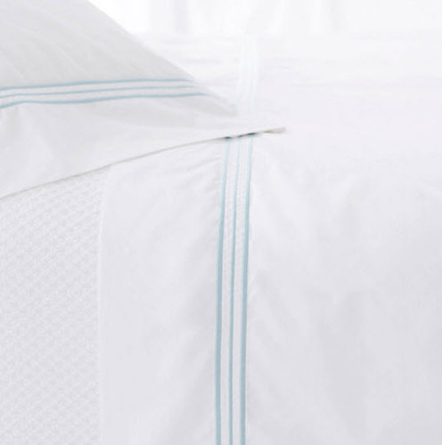 Trio Sky Blue Pillow Cases (Pair)