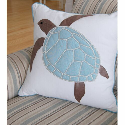 Turtle Indoor Pillow - Cottage Blue