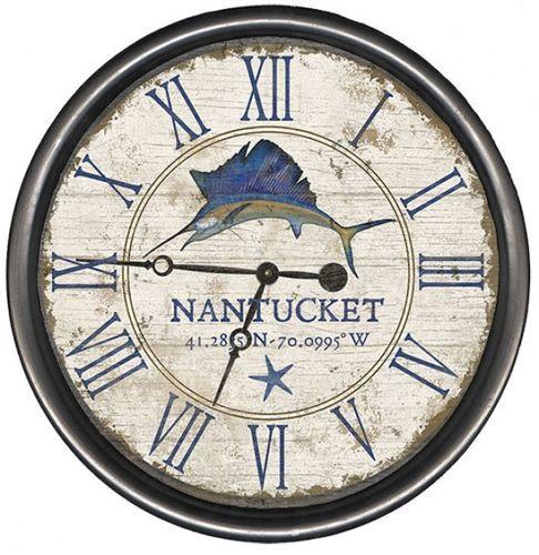 Vintage Sailfish Clock - Personalize It