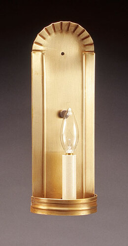 Wall Sconce Crimp Top