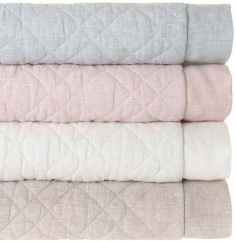 Washed Linen Sky Blue Quilt