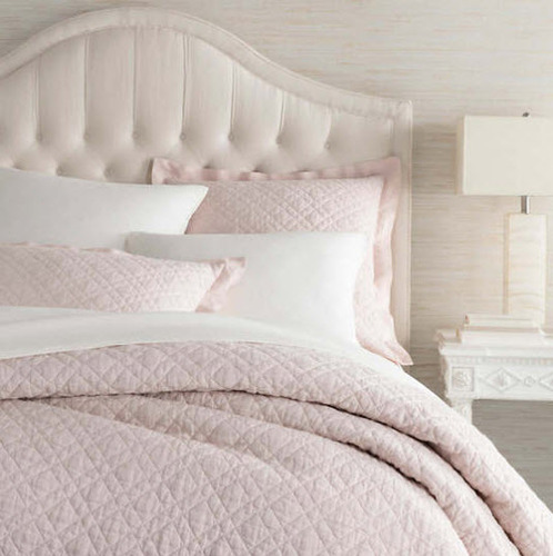 Washed Linen Slipper Pink Quilt