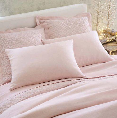Washed Linen Slipper Pink Sham