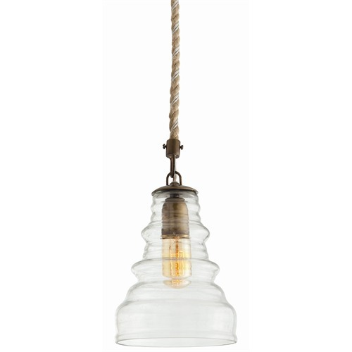 Wesley Glass/Metal Pendant Light