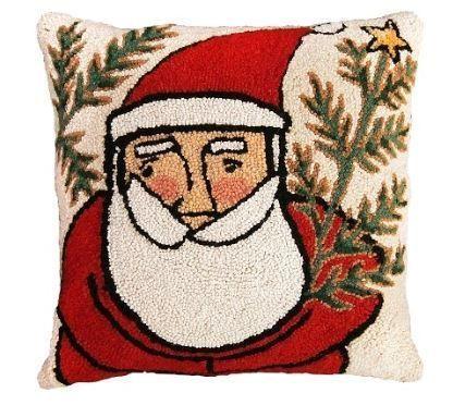 Western Santa Christmas Pillow