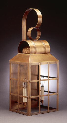 Woodcliffe II Series:  Culvert Top 2-Light Large Wall Lantern