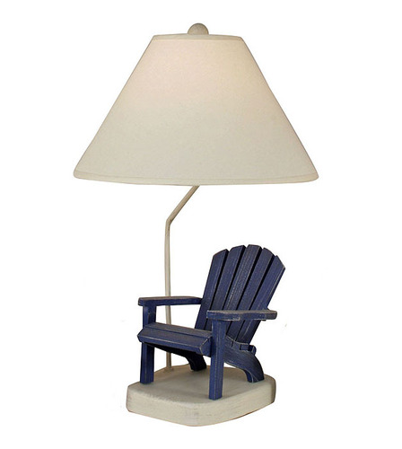 Blue Wooden Adirondack  Chair Table Lamp