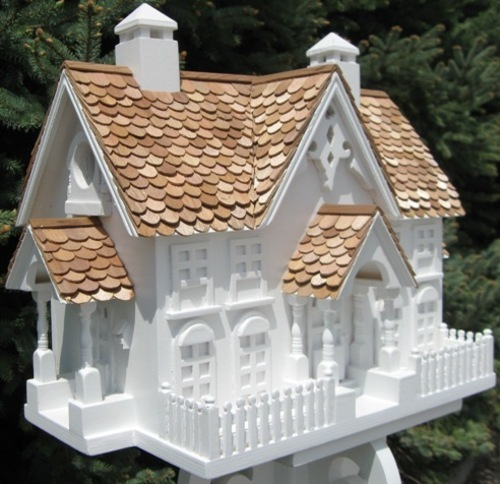 The Wren Mansion Birdhouse <font color=a8bb35>Low Stock</font>