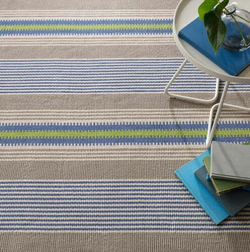York Stripe Cotton Woven Rug