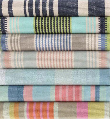York Stripe Cotton Woven Rug