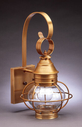 8 Onion Wall Light Fixture With Cage  <font color=a8bb25> Sold Out</font>