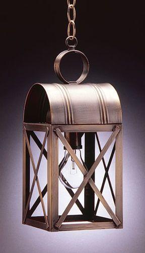 Adams Medium Hanging Lantern with Cross-Brace Bars