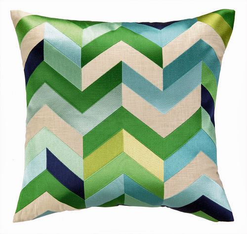 Arrowhead Blue & Green Pillow