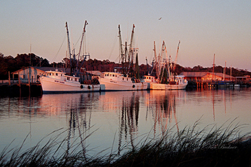 Autumn Shrimp Boats Giclee