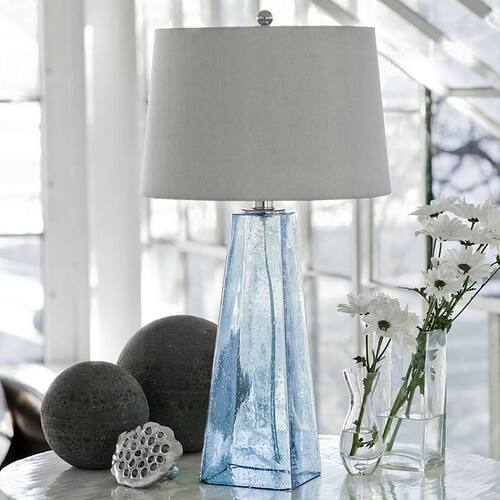 Baha Blue Glass Lamp