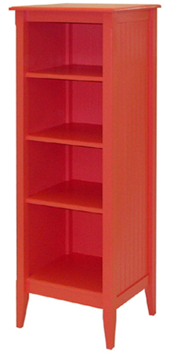 Bead Board Tall Bookcase