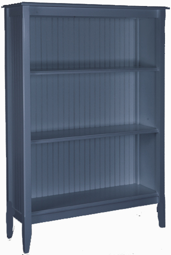 Bead Board Tall Bookcase with Three Shelves