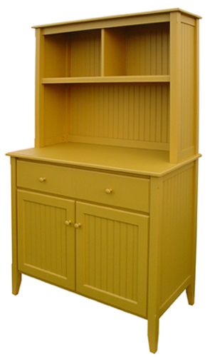 Beadboard Cupboard with Hutch