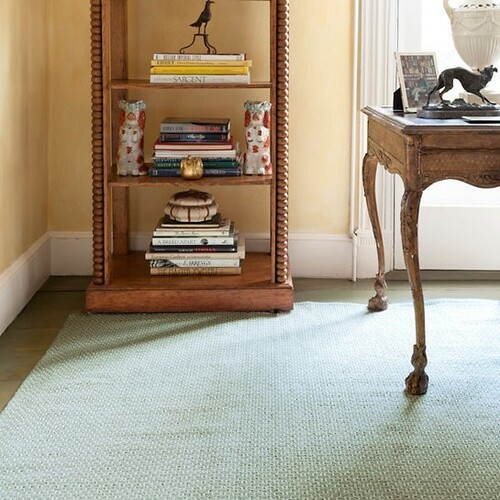 Beatrice Soft Green Woven Cotton Rug