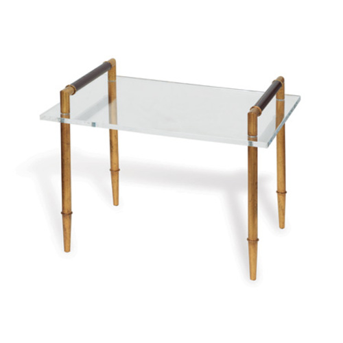 Benton Gold and Lucite Table