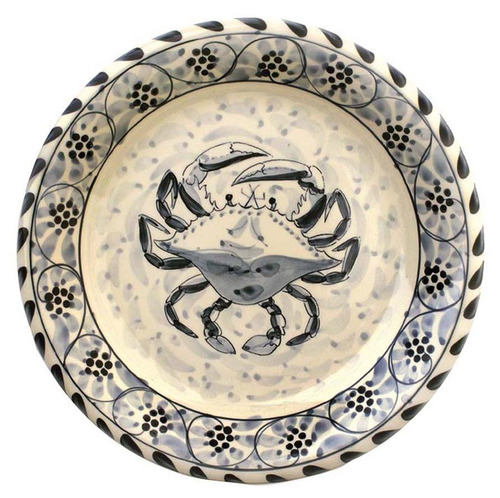 Blue Crab Salad Plate - Set of 4