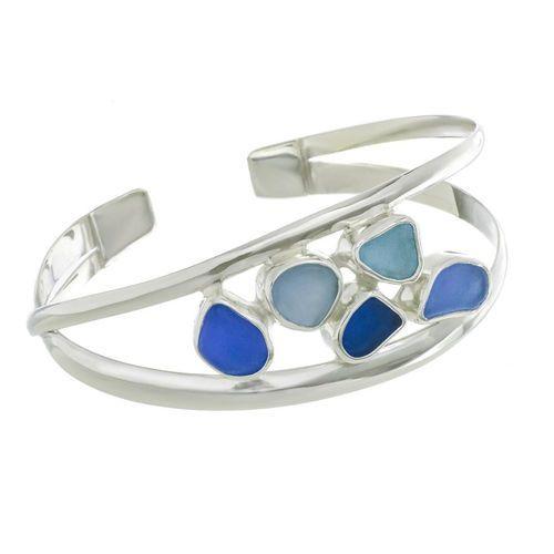 Blue Double Strand Cuff