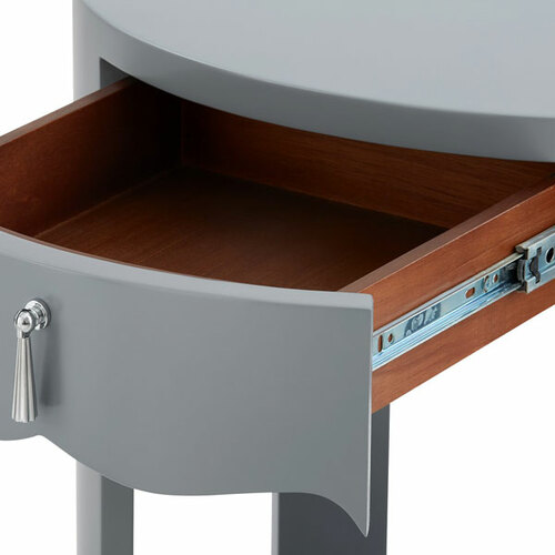 Brigitte One Drawer Side Table in Gray<font color=a8bb35> discontinued</font>