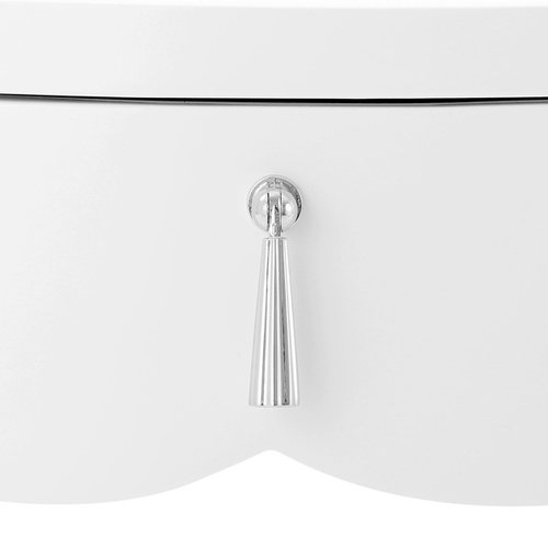 Brigitte One Drawer Side Table in White