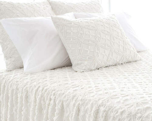 Candlewick Dove White Bedspread