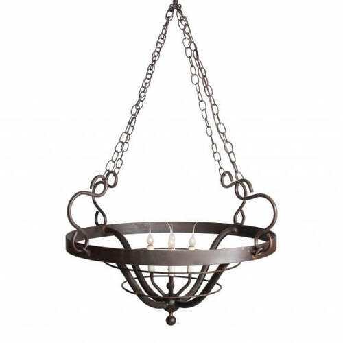 Cassina Point Round Basket Chandelier