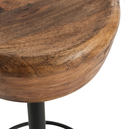 Caymus Wood & Iron Bar Stool