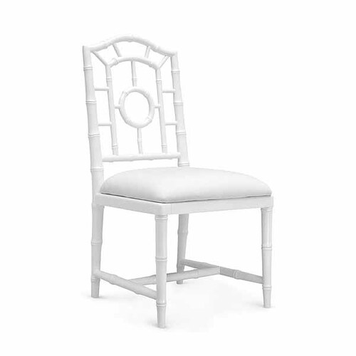 Chloe Lacquered Side Chair in White